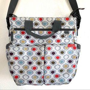 Skip Hop Duo Geometric Print Crossbody Diaper Bag